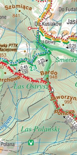 Rabka-Zdrój i okolice - widok mapy papierowej