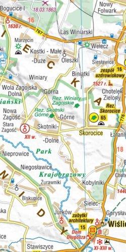 Świętokrzyskie - 101 atrakcji turystycznych - widok mapy papierowej