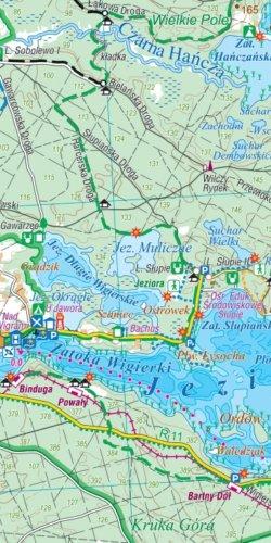 Suwalszczyzna - widok mapy papierowej