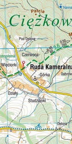 Pogórze Rożnowskie - widok mapy papierowej