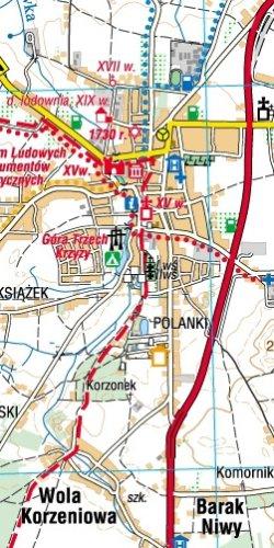 Okolice Radomia - widok mapy papierowej
