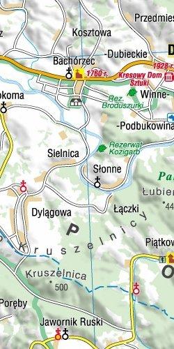 Podkarpackie - 101 atrakcji turystycznych - widok mapy papierowej