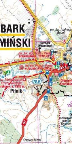 Nizina Staropruska - Lidzbark Warmiński, Bartoszyce i okolice - widok mapy papierowej