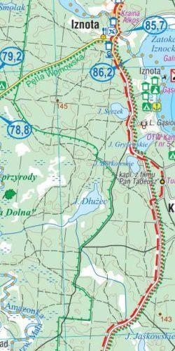 Mazury. Szlak Krutyni, Jezioro Śniardwy - widok mapy papierowej