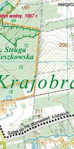 Park Krajobrazowy Wzniesień Łódzkich - widok mapy papierowej
