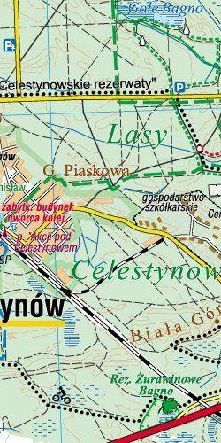 Powiat Otwocki - widok mapy papierowej