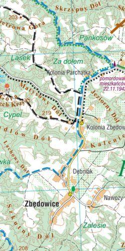 Kazimierz Dolny - widok mapy papierowej