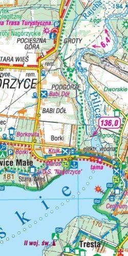 Dolina Środkowej Pilicy - widok mapy papierowej
