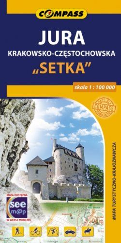 """Jura Krakowsko-Częstochowska """"Setka"""" - widok mapy papierowej"""