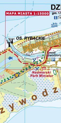 Wyspa Wolin, Woliński Park Narodowy - widok mapy papierowej