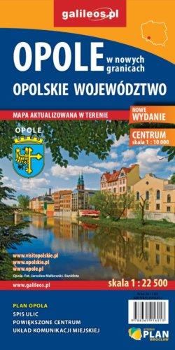 Opole w nowych granicach administracyjnych, opolskie województwo - widok mapy papierowej