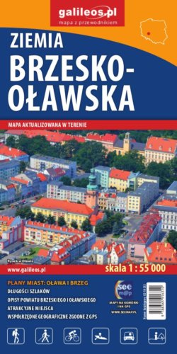 Ziemia brzesko-oławska - widok mapy papierowej