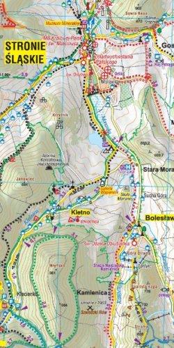 Sudety wschodnie - widok mapy papierowej