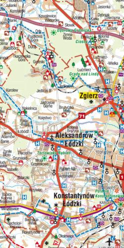 Województwo łódzkie - widok mapy papierowej