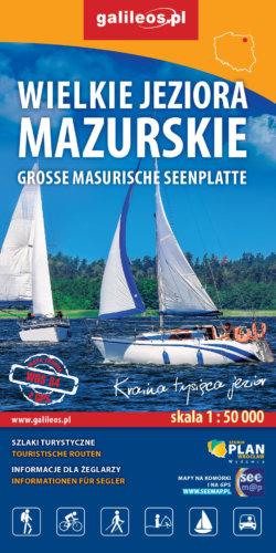 Front okładki Wielkie Jeziora Mazurskie