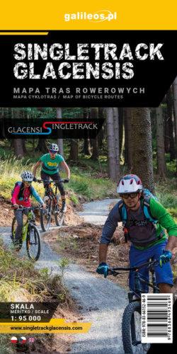 Front okładki Singletrack Glacensis – mapa tras rowerowych