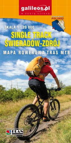 Front okładki Single Track Świeradów-Zdrój – mapa rowerowa