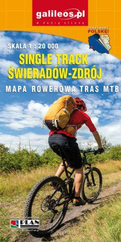Single Track Świeradów-Zdrój - mapa rowerowa - widok mapy papierowej