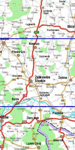 Ziemia Ząbkowicka - widok mapy papierowej