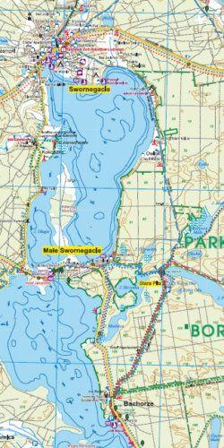 Bory Tucholskie - widok mapy papierowej