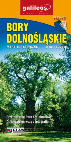 Bory Dolnośląskie, Przemkowski Park Krajobrazowy - widok mapy papierowej