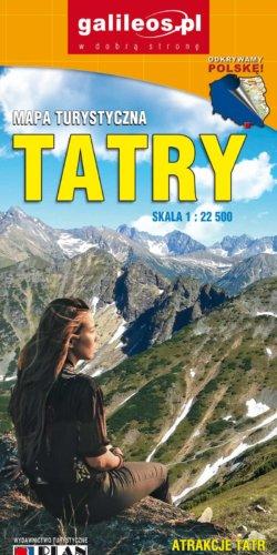 Tatry - widok mapy papierowej