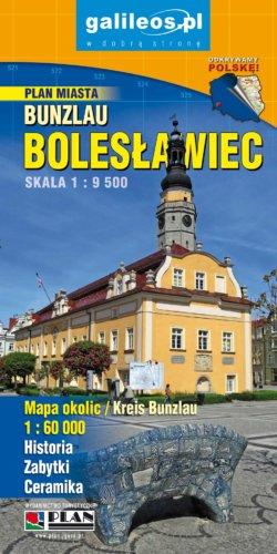 Okolice Bolesławca - widok mapy papierowej