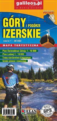 Góry i Pogórze Izerskie - mapa turystyczna - widok mapy papierowej