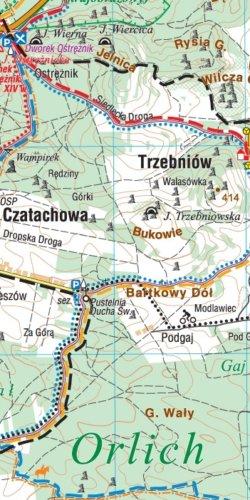 Jura Krakowsko-Częstochowska - widok mapy papierowej