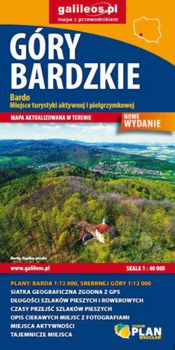 Góry Bardzkie - widok mapy papierowej