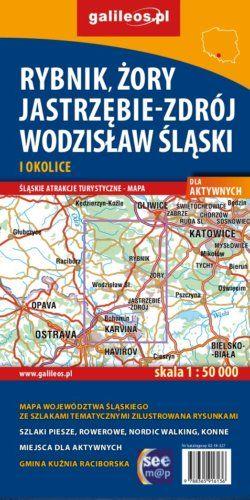 Rybnik, Żory, Jastrzębie-Zdrój, Wodzisław Śląski i okolice dla aktywnych. - widok mapy papierowej
