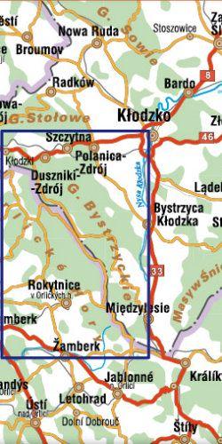 Góry Bystrzyckie i Góry Orlickie - widok mapy papierowej