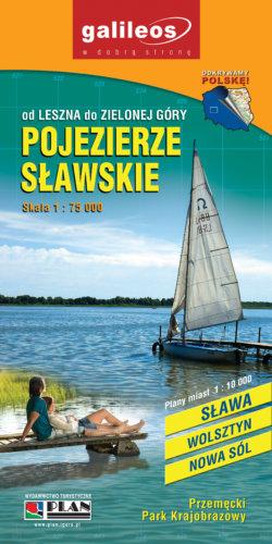 Pojezierze Sławskie - widok mapy papierowej