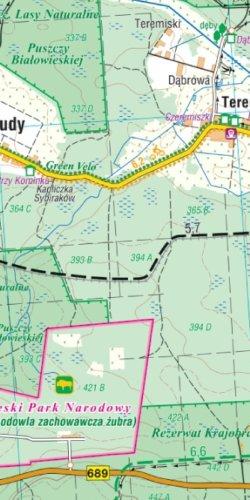 Puszcza Białowieska i okolice - widok mapy papierowej