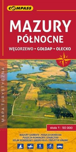 Mazury północne - Węgorzewo, Gołdap, Olecko - widok mapy papierowej