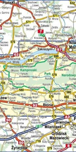 Kampinoski Park Narodowy - widok mapy papierowej
