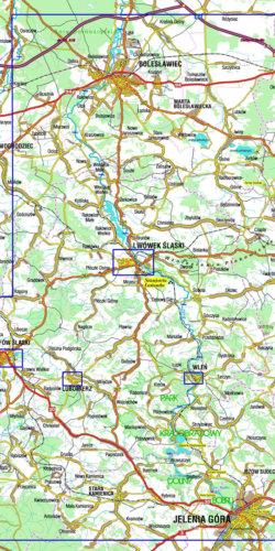 Dolina Bobru - widok mapy papierowej