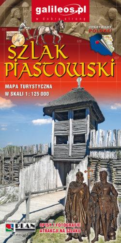 Szlak Piastowski - widok mapy papierowej