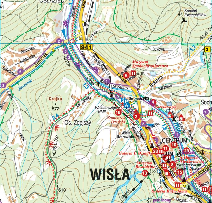 Wisla Brenna I Okolice Mapy Gps Sklep Z Mapami Nawigacja