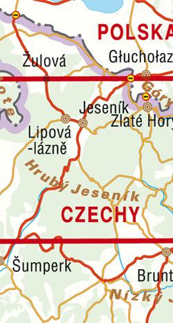 Jesioniki Pradziad Jesenik - widok mapy papierowej