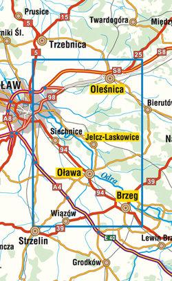 Bliskie okolice Wrocławia część południowo-wschodnia - widok mapy papierowej