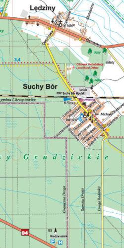Okolice Opola - część południowa - widok mapy papierowej