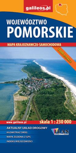 Front okładki Pomorskie Województwo –  mapa krajoznawczo samochodowa