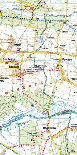 Powiat ostrowski dla aktywnych - widok mapy papierowej