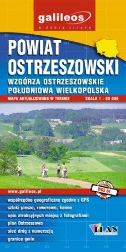 Powiat Ostrzeszowski – Wzgórza Ostrzeszowskie - widok mapy papierowej