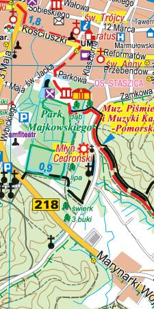 Trójmiejski Park Krajobrazowy - widok mapy papierowej
