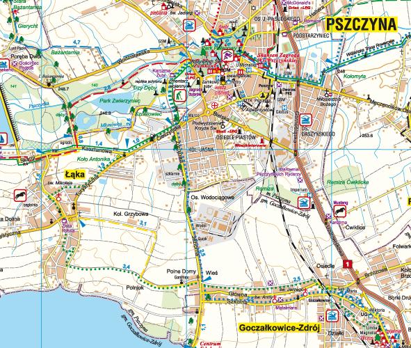 Tychy Pszczyna I Okolice Dla Aktywnych Mapy Gps Sklep Z Mapami