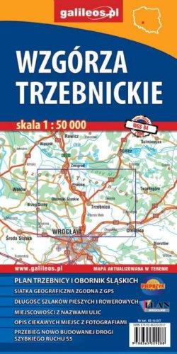 Wzgórza Trzebnickie - widok mapy papierowej