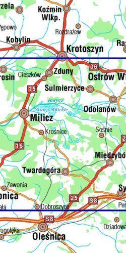 Dolina Baryczy część wschodnia, Stawy Milickie - widok mapy papierowej
