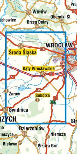 Bliskie okolice Wrocławia część południowo-zachodnia - widok mapy papierowej